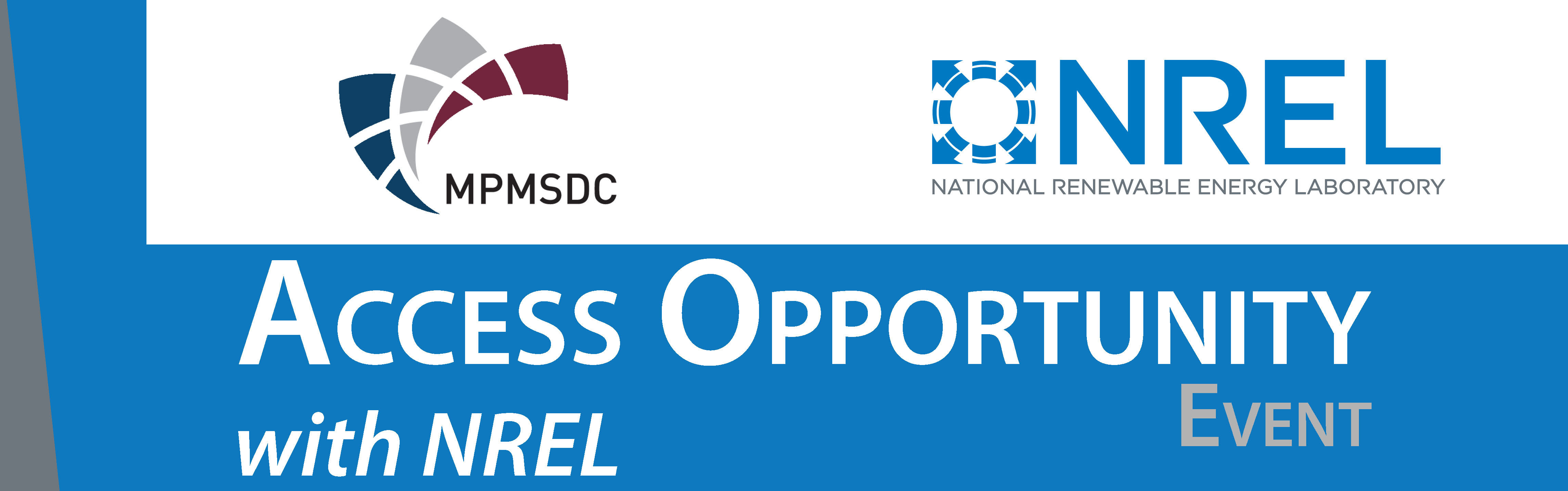 Access Opportunity with NREL – June 25, 2015