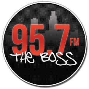 95.7 the boss logo
