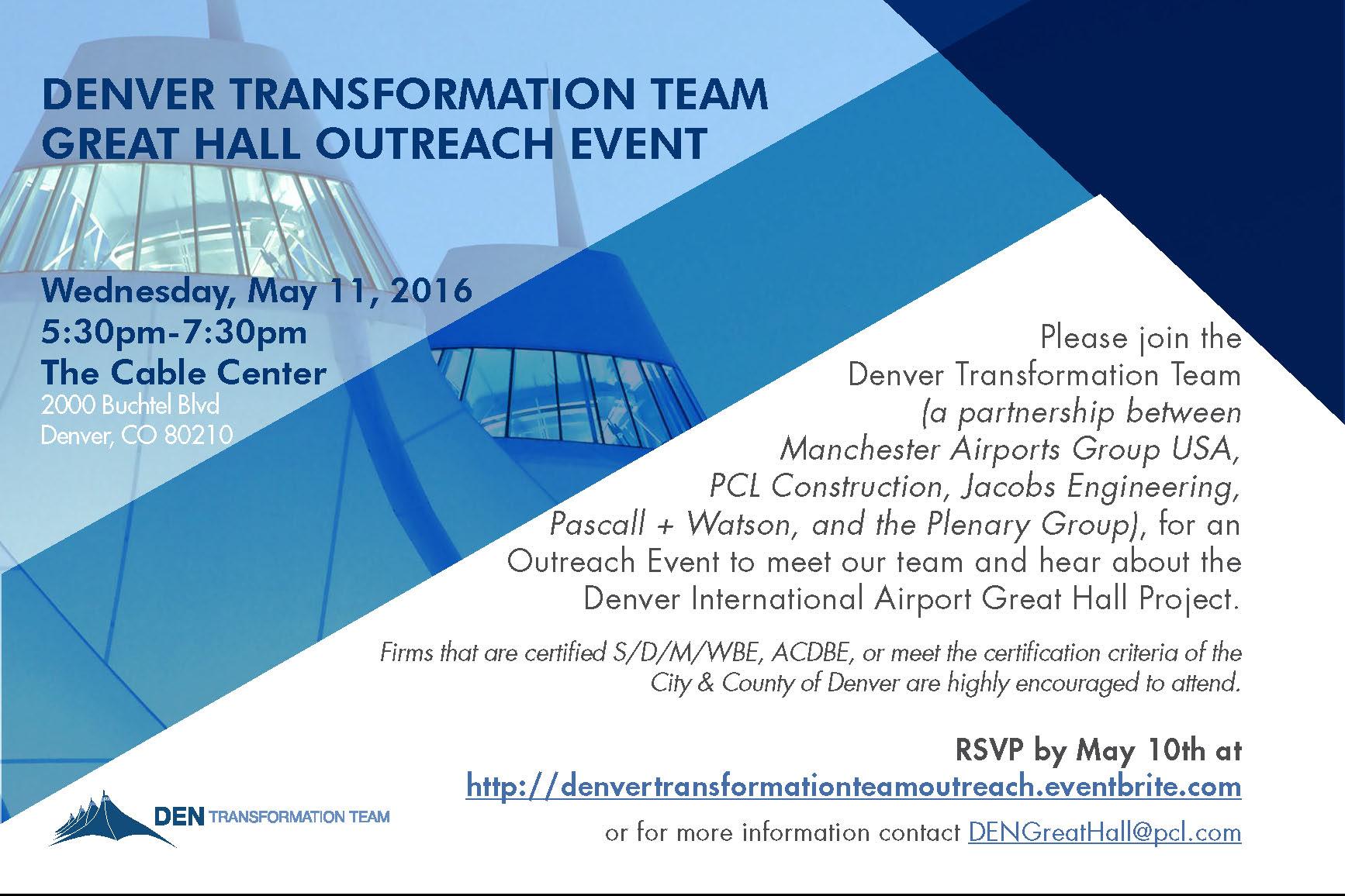 Denver Transformation Team Great Hall Outreach Event Mpmsdc