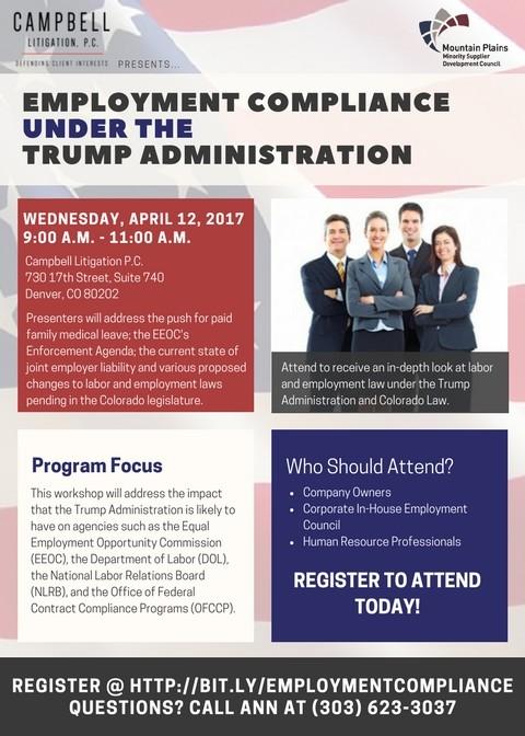 Employment Compliance Under Trump Administration