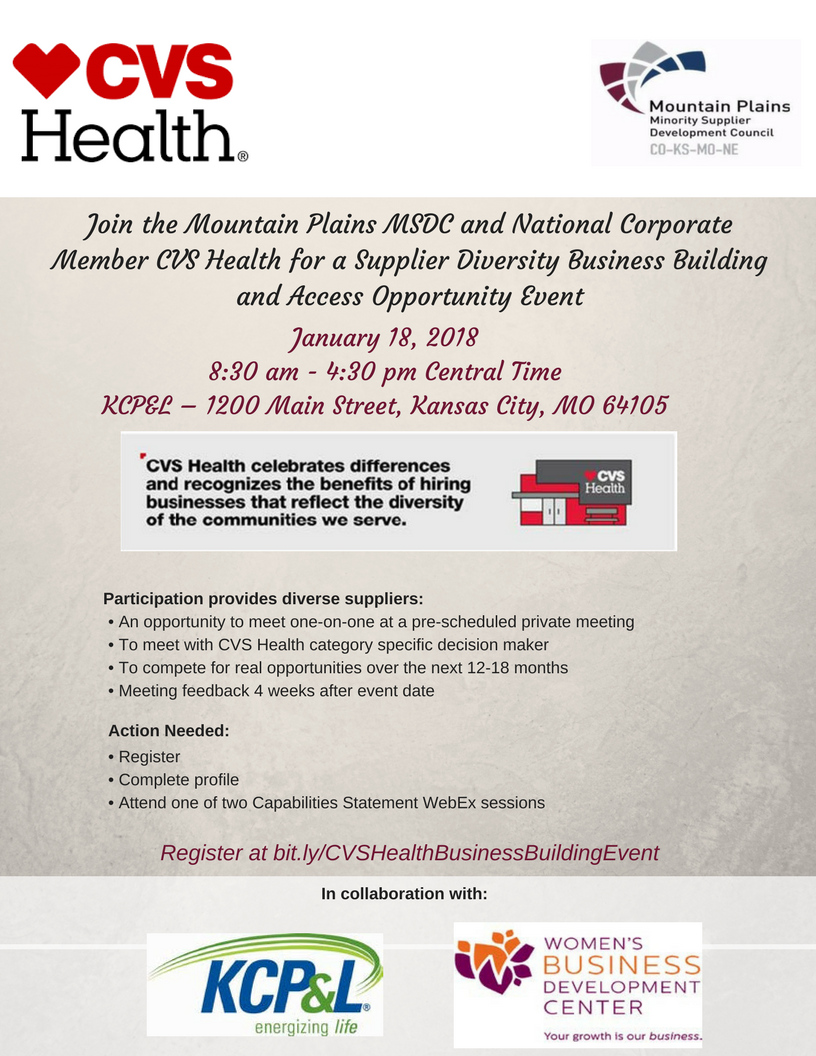 cvs supplier diversity business building and access opportunity
