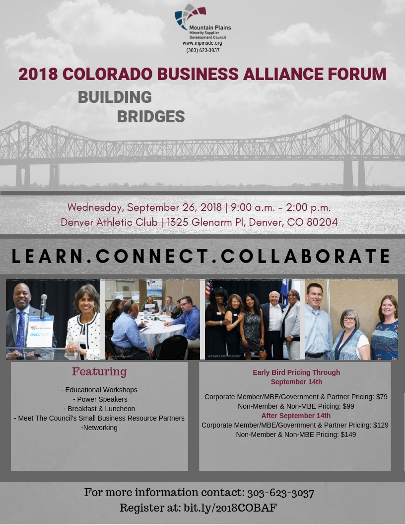 2018 Colorado Business Alliance Forum | MPMSDC